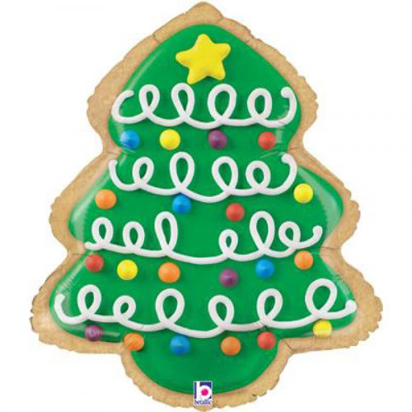Christmas Tree Balloon.25 Christmas Tree Cookie Foil Balloon