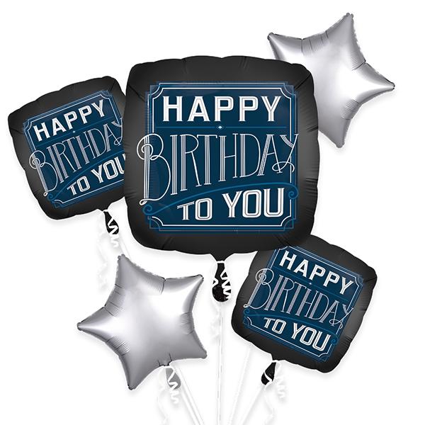Happy Birthday Man Foil Balloon Bouquet Sprinkie Parties